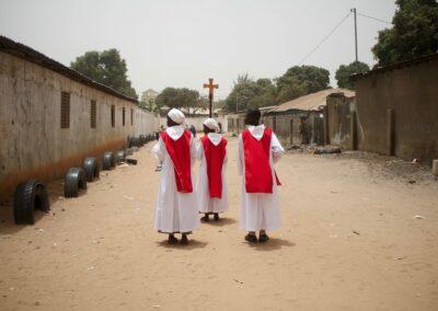 Christians during the good Friday ceremony. Serekunda, The Gambia 2016