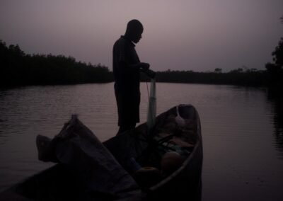 The end of the day for a fisherman. Casamance, Senegal 2016