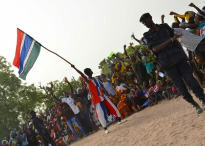 Supporters of Adama Barrow during a election rally. The Gambia 2016
