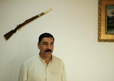 Abdulrahman al-Dschuburi inside his residents. Kajara, 2018