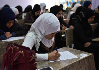 Students during their examen. Ramadi, January 2019.