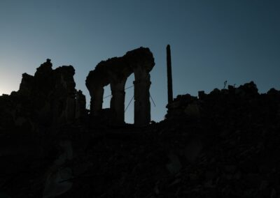 Ruins in the old town from Shangal. Sinjar, June 2018.